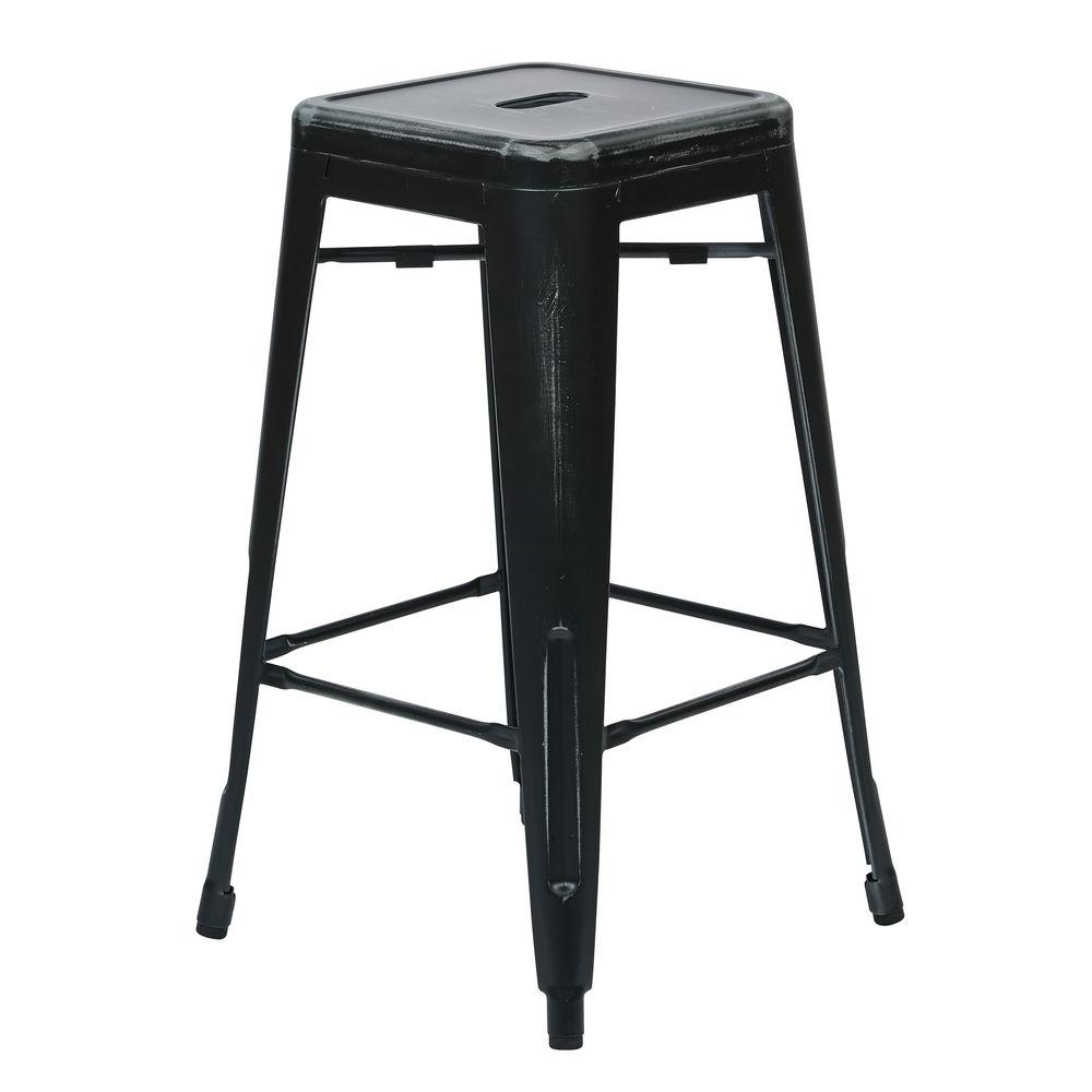 OSP Home Furnishings Bristow 26.25 in. Antique Black Bar Stool (Set of 4) OSP Home Furnishings Bristow 26.25 in. Antique Black Bar Stool (Set of 4).