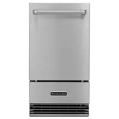 18 in. 50 lb. Freestanding or Built-In, Outdoor Icemaker in Stainless Steel