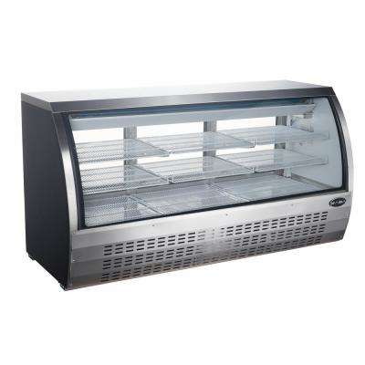 82 in. W 32 cu. ft. Commercial Refrigerator Deli Case, Display Case in Glass/Stainless Steel