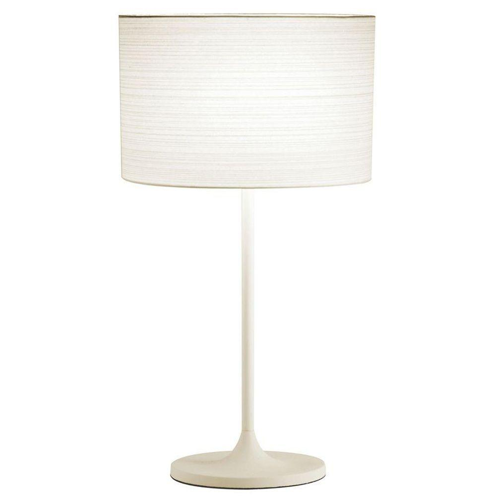Adesso Oslo 22 5 In White Table Lamp 6236 02 The Home Depot