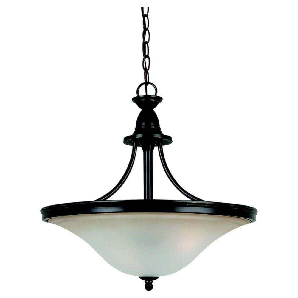Sea Gull Lighting Gladstone 3-Light Heirloom Bronze LED