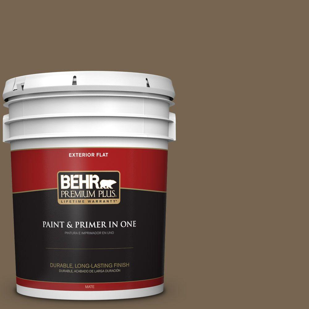 5-gal. #BNC-35 Ground Pepper Flat Exterior Paint
