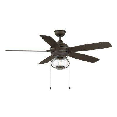 Raina 52 in. LED Outdoor Espresso Bronze Ceiling Fan with Light