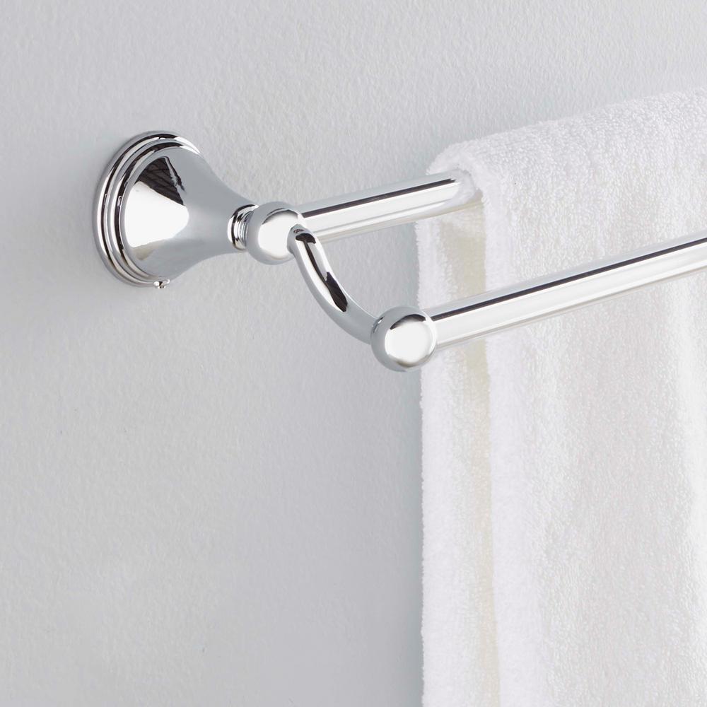 Chrome Moen DN8422CH Preston 24-Inch Bathroom Double Towel Bar
