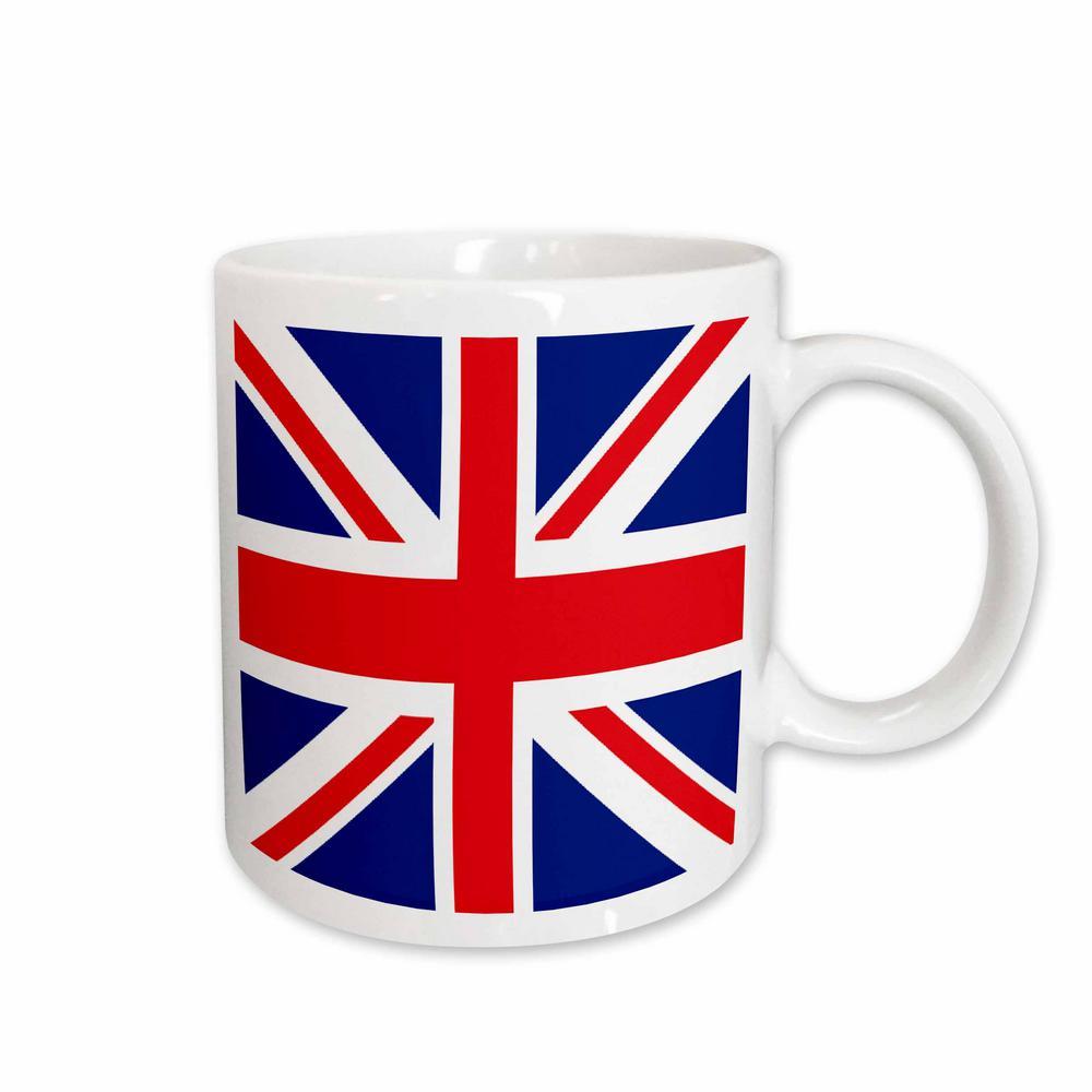 Flags 11 oz. White Ceramic United Kingdom Flag Mug