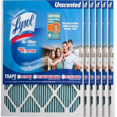 20 in. x 20 in. x 1 in. Certified Asthma and Allergy Triple Protection Air Filter (6-Pack)