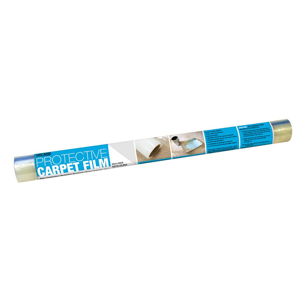 Trimaco Easy Mask 24 in. x 100 ft. 2-mil Protective Film for Carpets