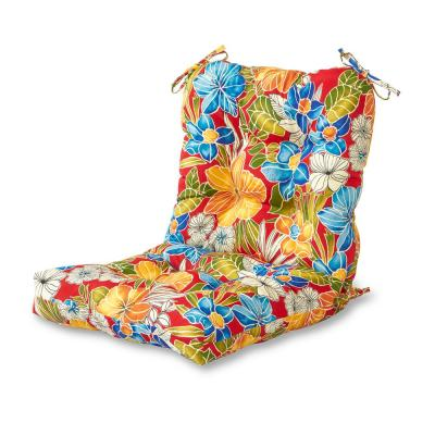 Aloha Red Outdoor Dining Chair Cushion