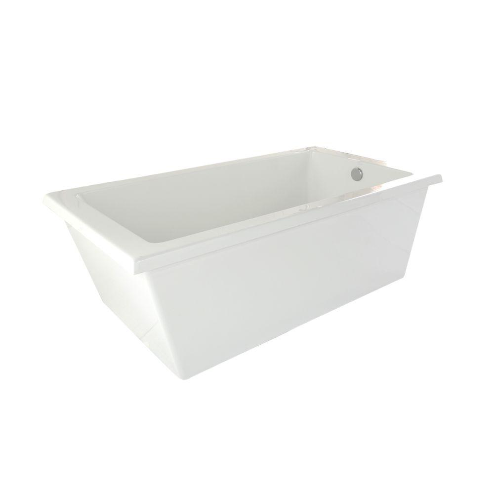 Hydro Systems Ann Arbor 5.5 ft. Freestanding Air Bath Tub in White