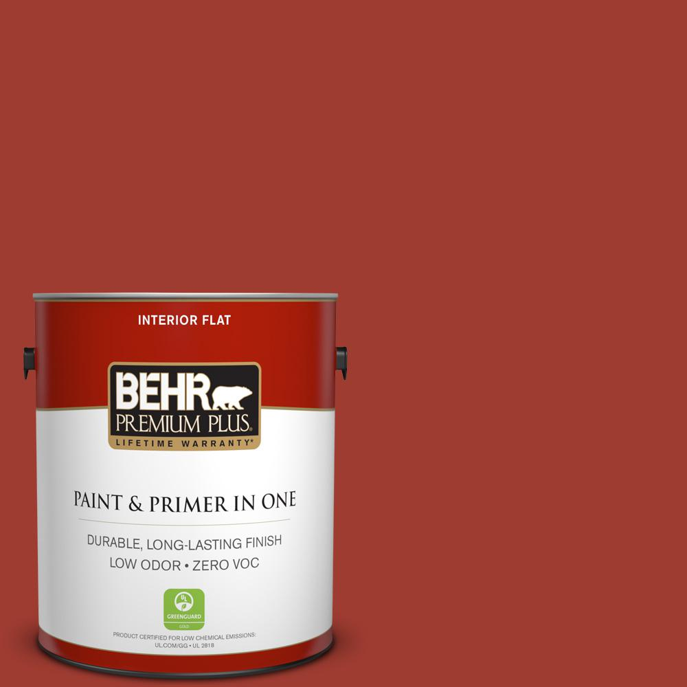 1 gal. #PPU2-16 Fire Cracker Zero VOC Flat Interior Paint