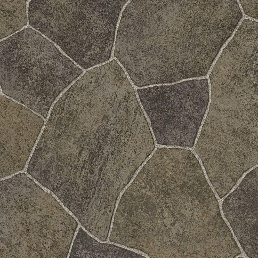 TrafficMASTER Natural Paver 12 ft. Wide Vinyl Sheet