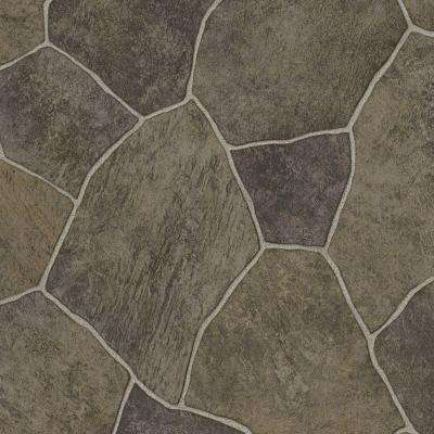 Natural Paver 12 ft. Wide Vinyl Sheet