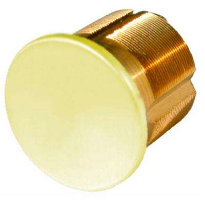 1 in Polished Brass Dummy Mortise Cylinder
