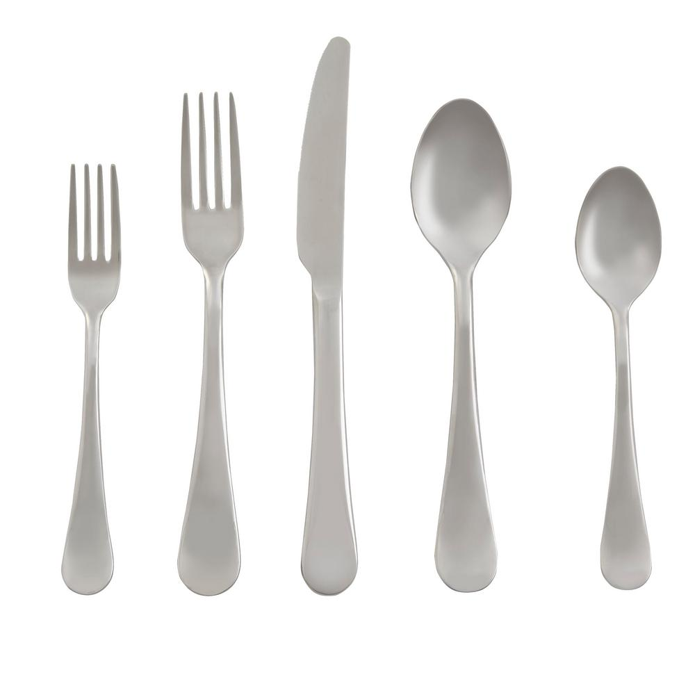 Home Decorators Collection Maywood 20-Piece Stainless Steel Flatware Set (Service for 4), Silver was $39.98 now $15.0 (62.0% off)