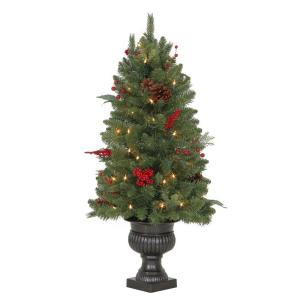 Martha Stewart Living 3 ft. Winslow Fir Potted Artificial Christmas Tree  with 50 Clear Lights-TV30P4598C00 - The Home Depot