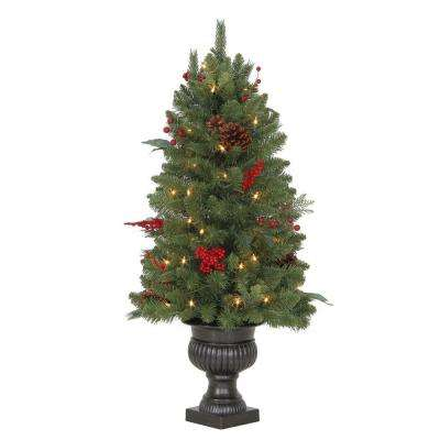 3 ft. Winslow Fir Potted Artificial Christmas Tree with 50 Clear Lights