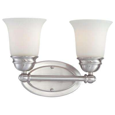 Bella 2-Light Brushed Nickel Bath Fixture