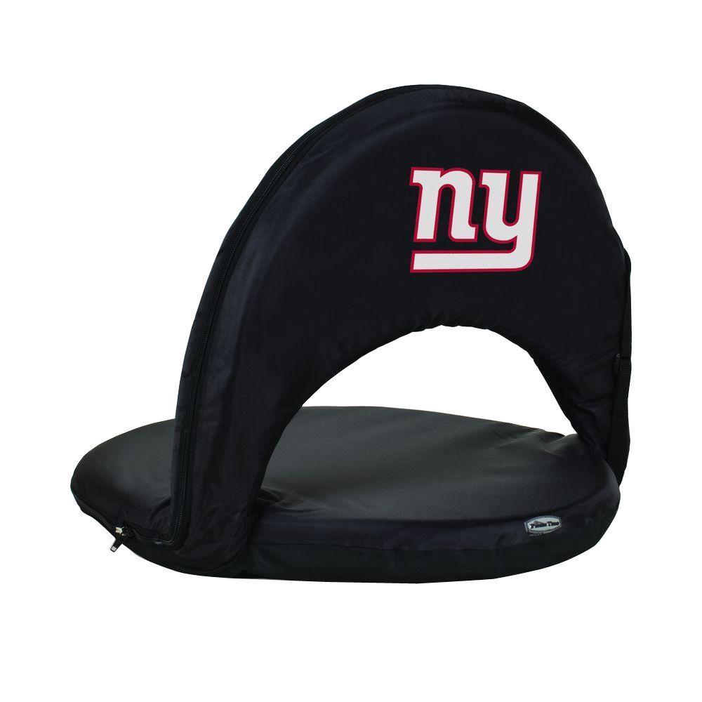 Oniva New York Giants Black Patio Sports Chair with Digital Logo