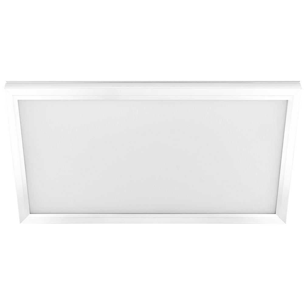 1 ft. x 2 ft. White LED Edge Lit Flat Panel Flushmount