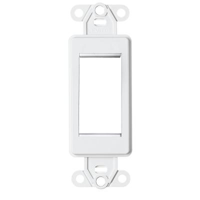 1-Unit High Multimedia Outlet System (MOS) Decora Insert, White