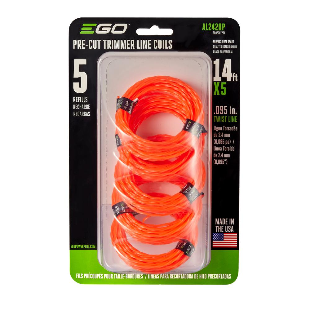 EGO Pre-Cut 0.095 in. Twisted Trimmer Line (5-Pack)