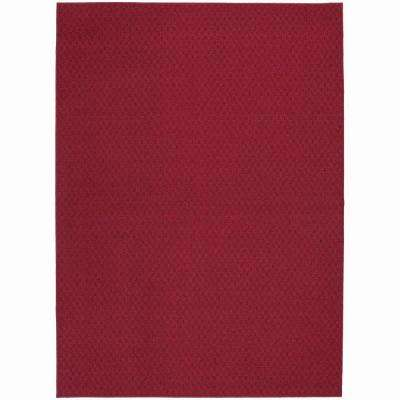 Town Square Chili Red 7 ft. 6 in. x 9 ft. 6 in. Area Rug
