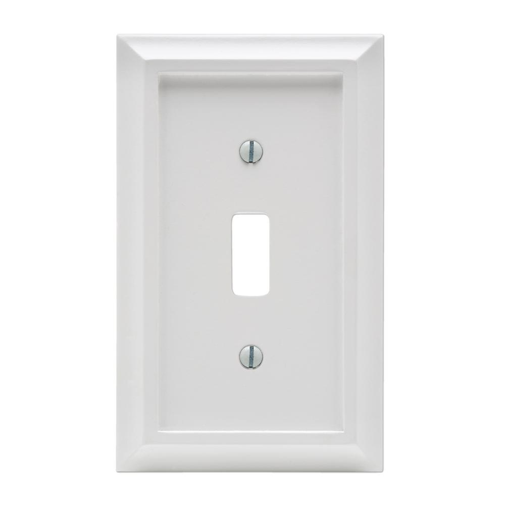 Amerelle Deerfield 1 Toggle Wall Plate White