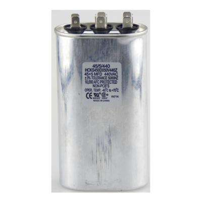 440-Volt 45/10 MFD Dual Rated Motor Run Oval Capacitor