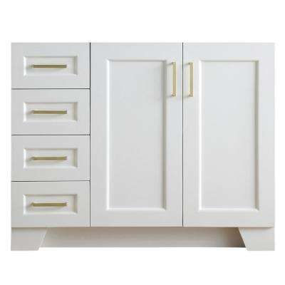 Taylor 42 in. W x 21.5 in. D Bath Vanity Cabinet Only in White