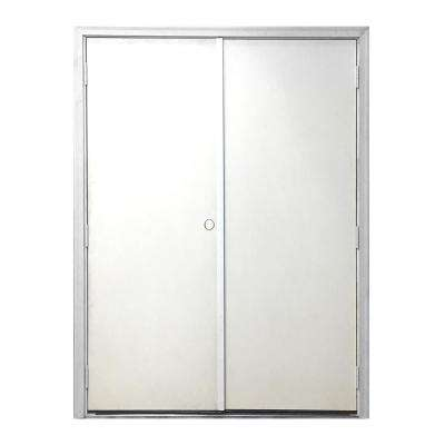 60 in. x 80 in. Garden Shed White Primed Right-Hand Outswing Fiberglass Prehung Front Door