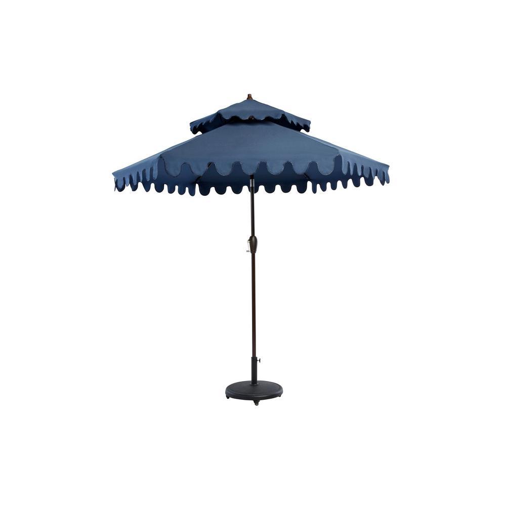 9 ft. Aluminum Market Outdoor Patio Umbrella in Navy