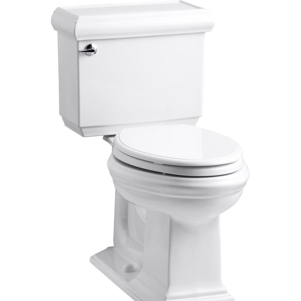 KOHLER Memoirs Classic 2-Piece 1.28 GPF Single Flush Elongated Toilet with AquaPiston Flush Technology in White