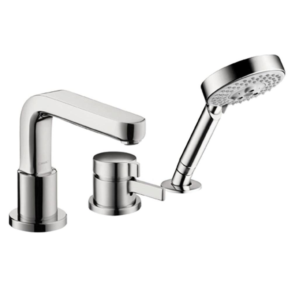 hansgrohe bathtub shower. hansgrohe single-handle non-deck plate 3-hole thermostatic roman tub filler trim bathtub shower