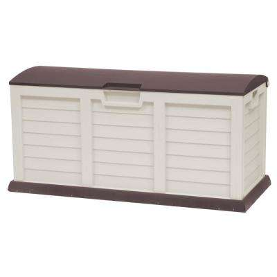 103 Gal. Plastic Light Mocha/Brown Deck Box With Dome Lid