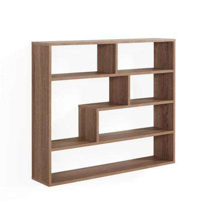 Wheathered Oak MDF Large Rectangular Floating Shelf Unit