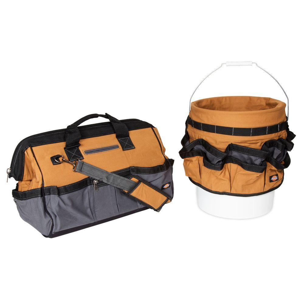 18 in. Soft Sided Construction Work Tool Bag and 12 in.