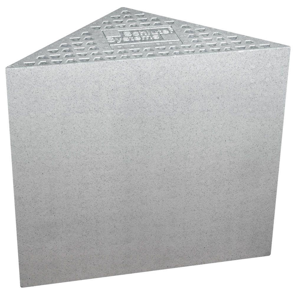 Schluter Kerdi-Shower-SB 16 in. x 16 in. x 20 in. Triangle Bench ...
