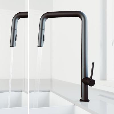 Parsons Single-Handle Pull-Down Sprayer Kitchen Faucet in Matte Black