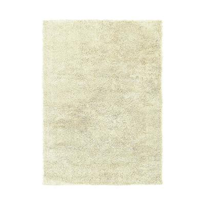 Impressions Ivory 5 ft. x 7 ft. Casual Shag Indoor Area Rug