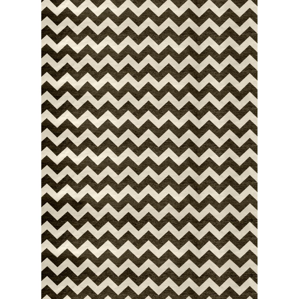 Ruggable Washable Chevron Black And White 5 Ft X 7 Ft Stain