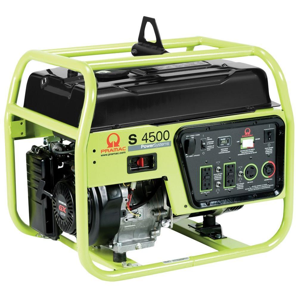 Pramac 4,500-Watt Gasoline Powered Manual Start Portable Generator