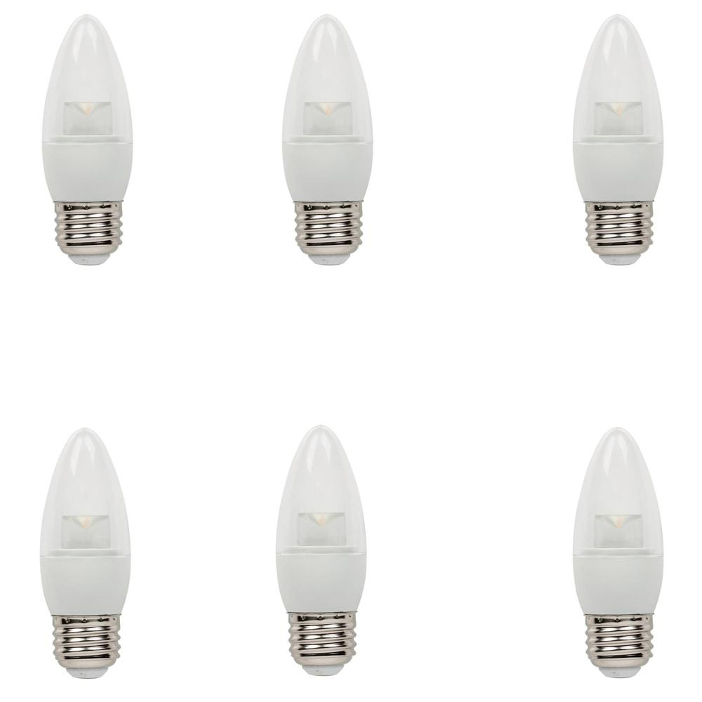Westinghouse 40-Watt Equivalent Soft White B11 Dimmable LED Light Bulb (6-Pack)