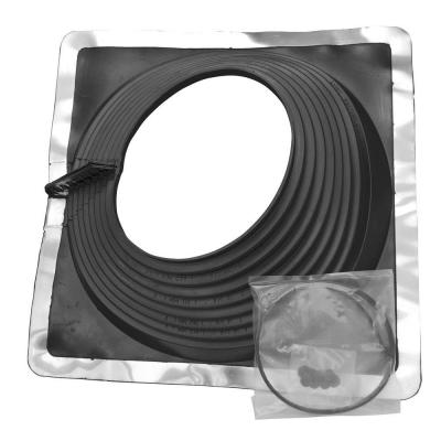 Retro Master Flash 8 in. x 8 in. Vent Pipe Roof Flashing with 9-1/4 in. - 16-1/4 in. Adjustable Diameter