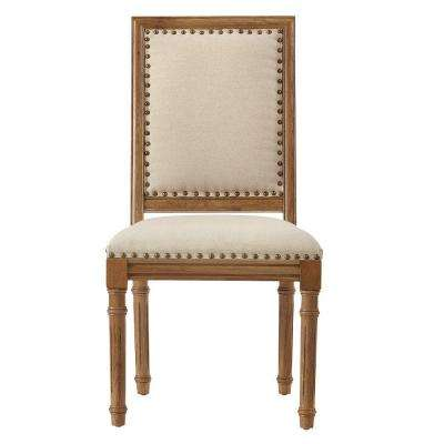 Marais Solid Ivory Cotton Accent Chair