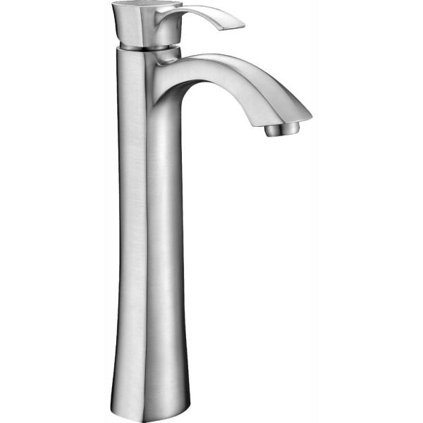 Italia Faucets European Single Post Faucet in Brushed Nickel with Deckplate