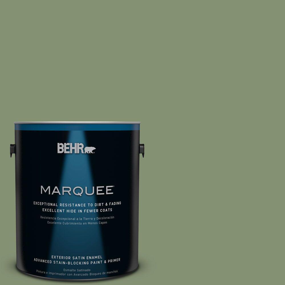 BEHR MARQUEE 1-gal. #BIC-26 Aloe Plant Satin Enamel Exterior Paint