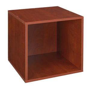 13 in. H x 13 in. W x 13 in. D Cherry Wood 1-Cube Storage Organizer