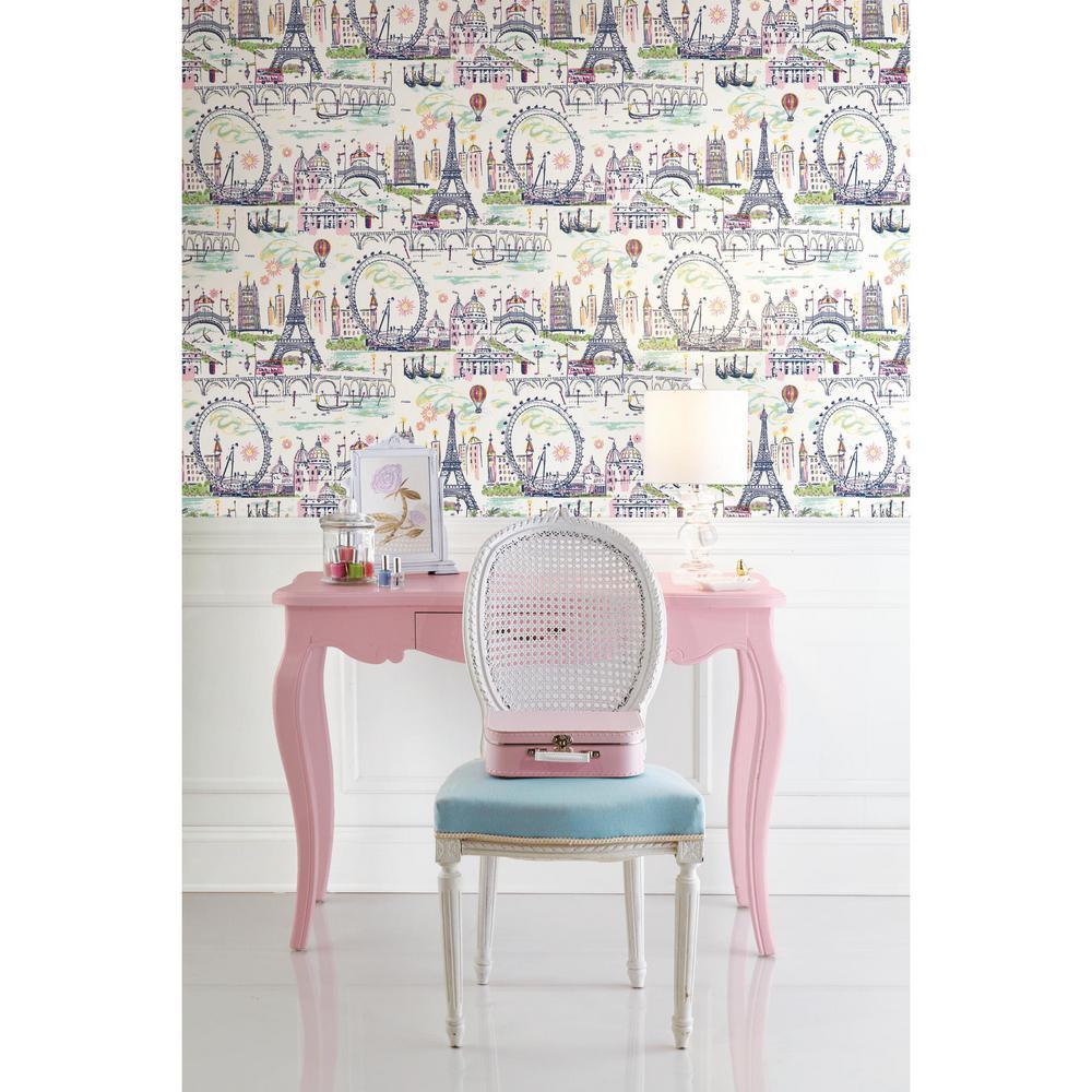 60.75 sq. ft. Novelty Euro Scenic Wallpaper