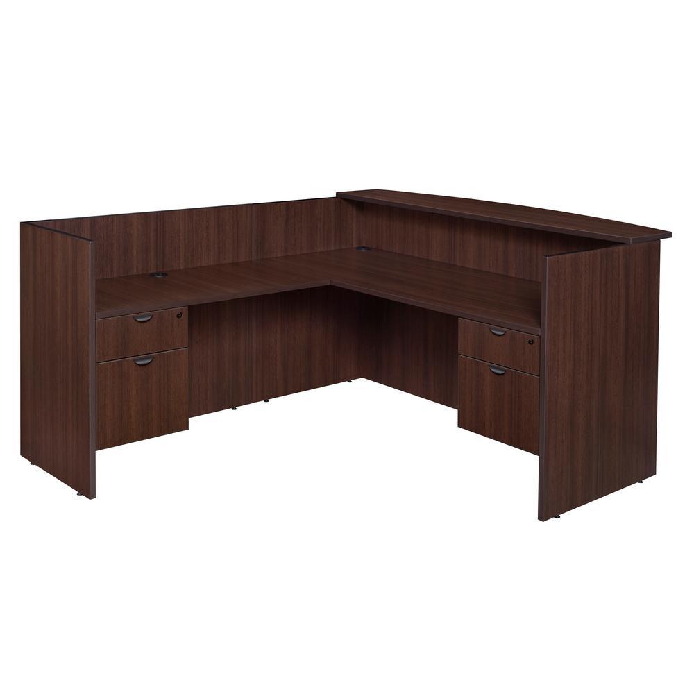 Legacy Java Double Box File Pedestal Reception Desk