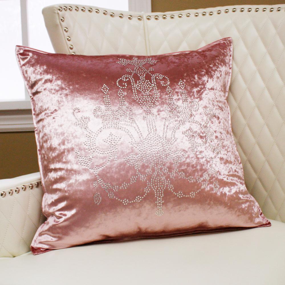 Chandelier Rhinestone Pink Stud Pillow